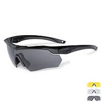 Тактические очки ESS Crossbow 3LS черная оправа + поляризационная линза