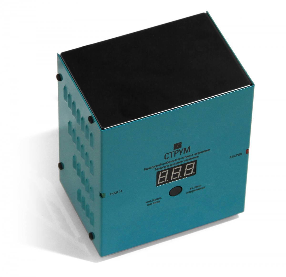 Стабилизатор напряжения Струм СтР-750 (0,75кВт) для Котла, холодильника, двигателей