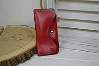 Красный кожаный кошелек , фото 1