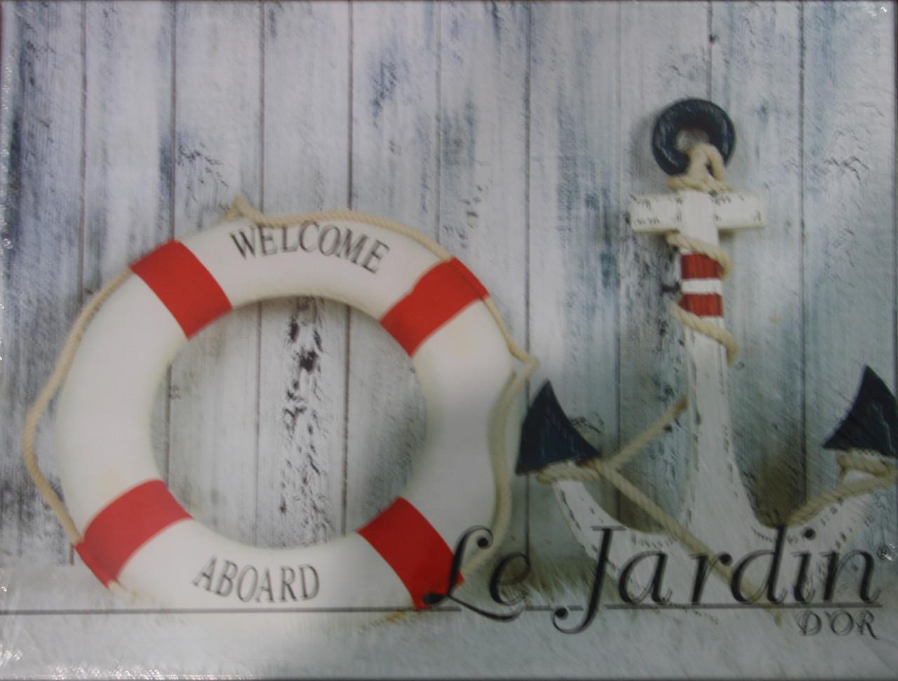 Евро размера постельное белья Anchor 3D Le Jardin