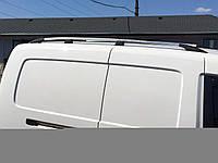 Рейлинги на крышу с пластиковыми креплениями Volkswagen Caddy 2004-2015 MAXI база, под хром (полированный алюминий)