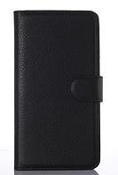 Кожаный чехол книжка для Nokia Lumia 925 черный