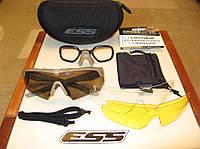 Тактические очки ESS Crossbow 3LS песочная оправа + поляризационная линза