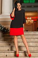 Экстравагантное контрастное платье прямого кроя, фото 1