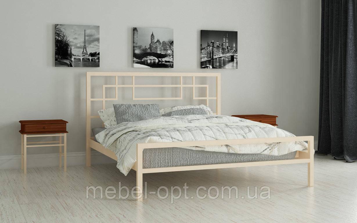 Кровать Лейла 160х190 см Двуспальная металлическая кровать Мадера, Доставка 250грн по Украине
