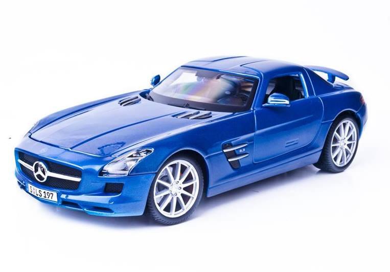 Автомодель (1:18) Mercedes-Benz SLS AMG 36196 met. blue