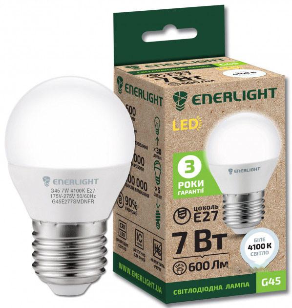 LED лампа Enerlight G45 7W 4100K E27