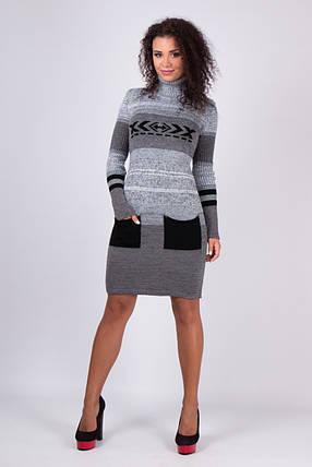 Платье вязаное под горло Мулине черный, фото 2