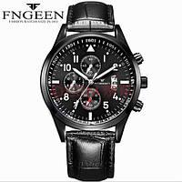 Часы марка FNGEEN 5410 черные Несколько циферблатов, число, флуоресцентные стрелки.