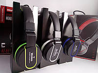 Наушники AZ-01 Wireless / Bluetooth с разъемом для карт памяти FM и SD , фото 1