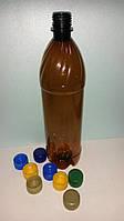 Пластиковая ПЕТ тара, бутылка 1 л. (темная)