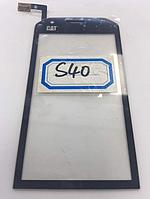 Оригинальный тачскрин / сенсор (сенсорное стекло) для Caterpillar CAT S40 (черный цвет)