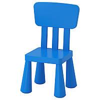 "IKEA ""МАММУТ"" Детский стул, д/дома/улицы, синий, фото 1"