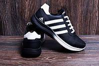 Кроссовки мужские кожаные Anser Adidas Flex fit black
