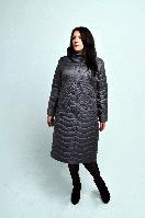 Пальто-плащ женское П-67 серое