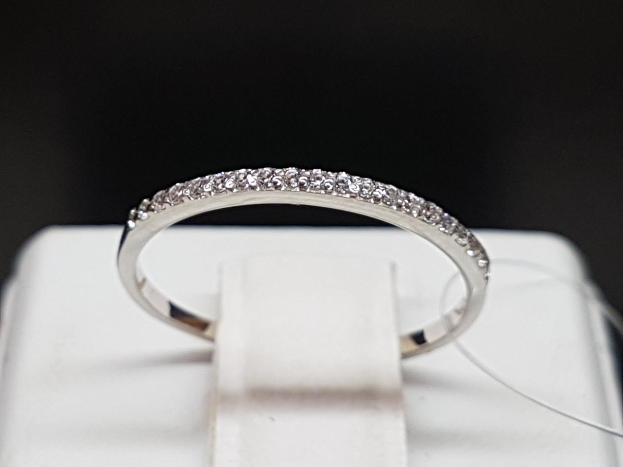 Срібне кільце з фіанітами. Артикул 901-00726 15