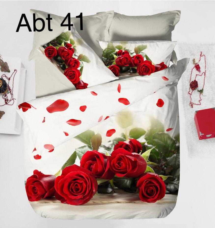 Постельное белье сатин 3D Altinbasak (евро-размер) № Abt-41