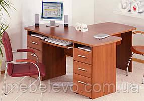 Стол руководителя с приставкой 900  СК-3741 755х1400х1500мм фасад МДФ   Комфорт