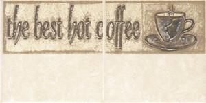 Декор из коллекции CERSANIT SAGRA керамической плитки для кухни SAGRA BEIGE 2 COFFE Арт. 134088
