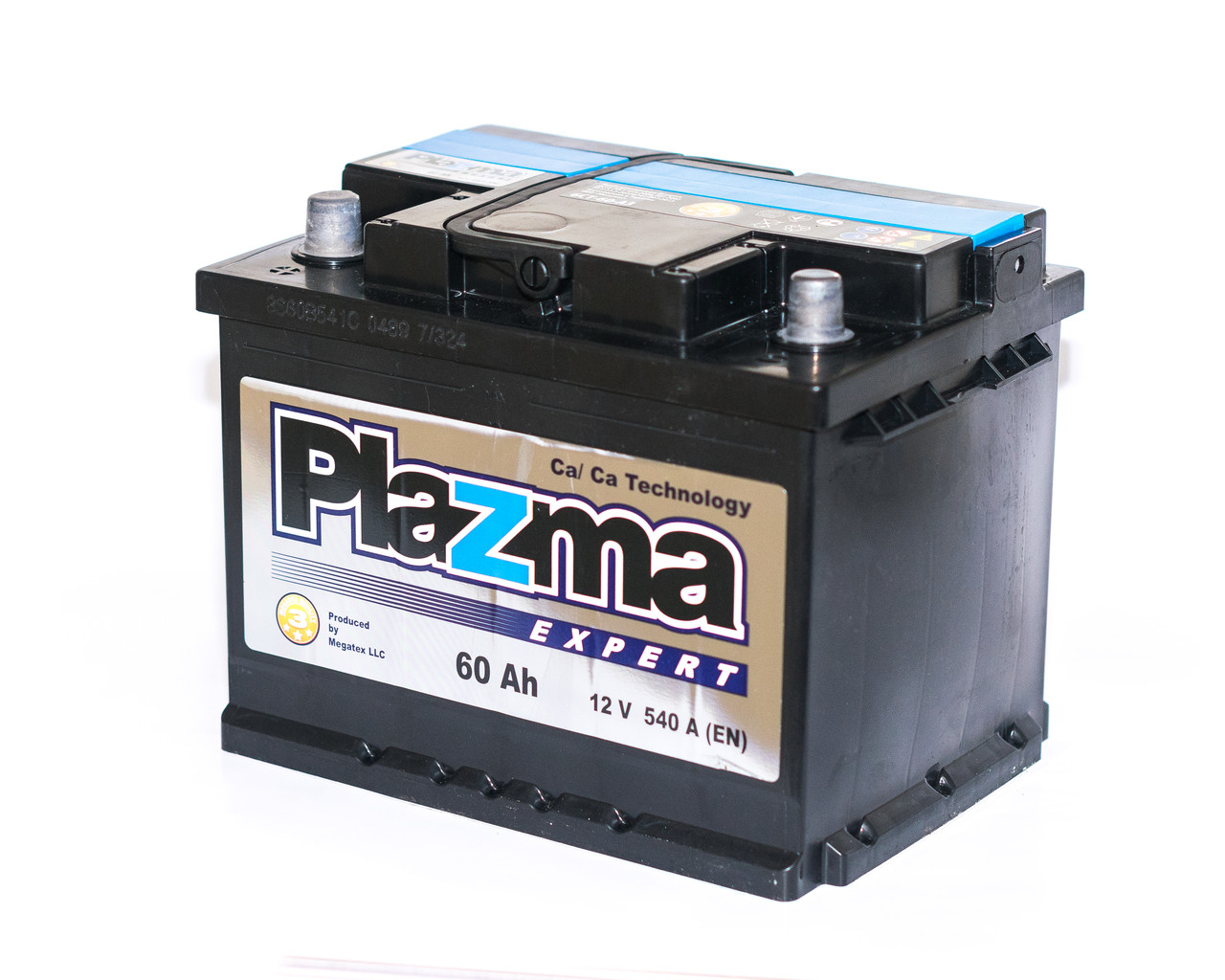 Аккумулятор автомобильный 6СТ-60Ач: PLAZMA EXPERT (Мегатекс)