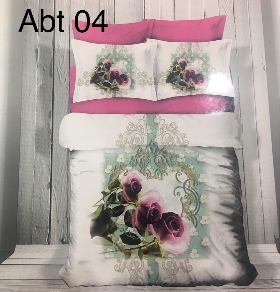 Постельное белье сатин 3D Altinbasak (евро-размер) № Abt-04