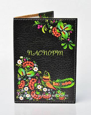 Обложка для паспорта с птичкой