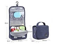 Дорожный органайзер для косметики Travel wash bag. Синий, фото 1