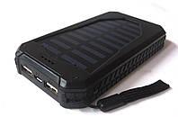 Внешний аккумулятор UKC 25800 mAh с солнечной панелью и мощным светодиодным фонарем, POWER BANK Solar Led