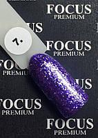 Гель-лак FOCUS Titan  №007 (фиолетовый с блесточками, глиттер), 8 мл