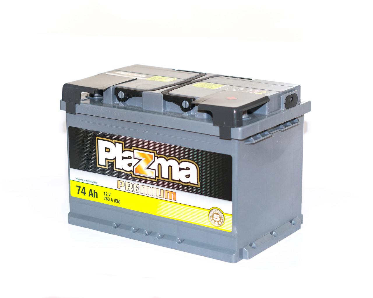 Аккумулятор автомобильный 6СТ-74Ач. 760A. PLAZMA Premium