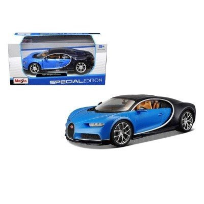 Автомодель (1:24) Bugatti Chiron чёрно-красный металлик