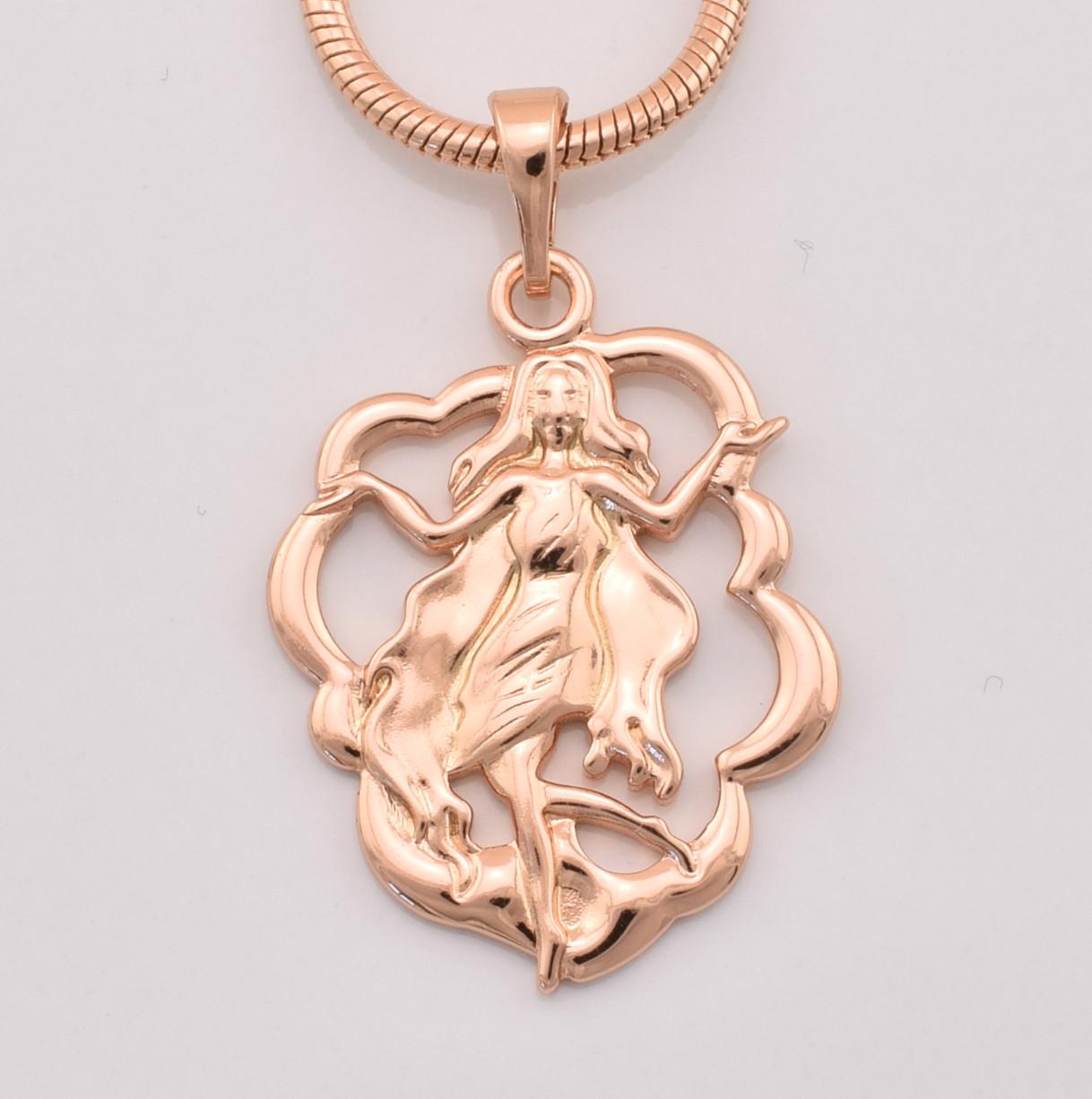 Знак зодиака Дева, 33664, размер 30*19 мм, позолота РО