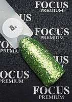 Гель-лак FOCUS Titan  №008 (салатовый с блесточками, глиттер), 8 мл