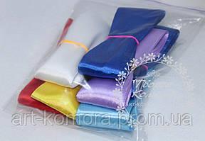 Набор отрезов атласных лент, 5 см, цвет - микс