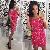 Платье Ткань-штапель(Турция) Размеры С М S, Красный