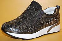 Подростковые кроссовки бронза TM Yalike код 108-6 размеры 33-38