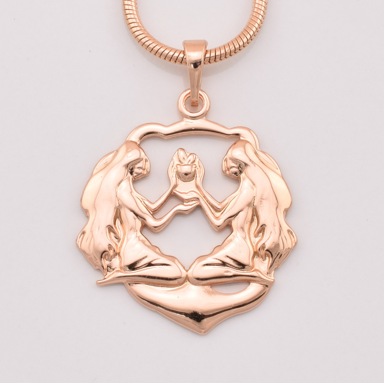 Знак зодиака Близнецы, 33664, размер 32*23 мм, позолота РО