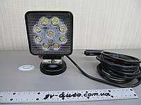 Светодиодная фара LED GV1210-27W flood на магните. https://gv-auto.com.ua, фото 1