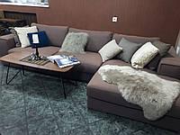Раскладной диван с шезлонгом MANHATTAN в коричневой ткани 335 см фабрика ALBERTA (Италия)
