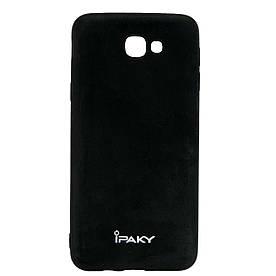 Чехол накладка для Samsung Galaxy J5 Prime G570 / On5 2016 силиконовый IPAKY, матовый, черный