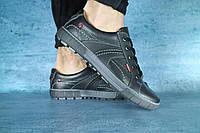 Мужские кожаные кроссовки кеды, фото 1