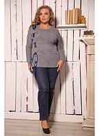 Женская туника Лента цвет серый / размер 48-72