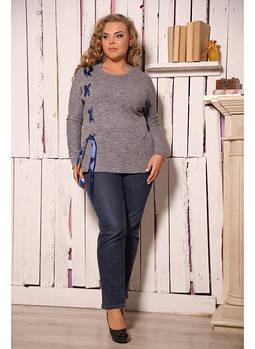 Женская туника Лента цвет серый / размер 54