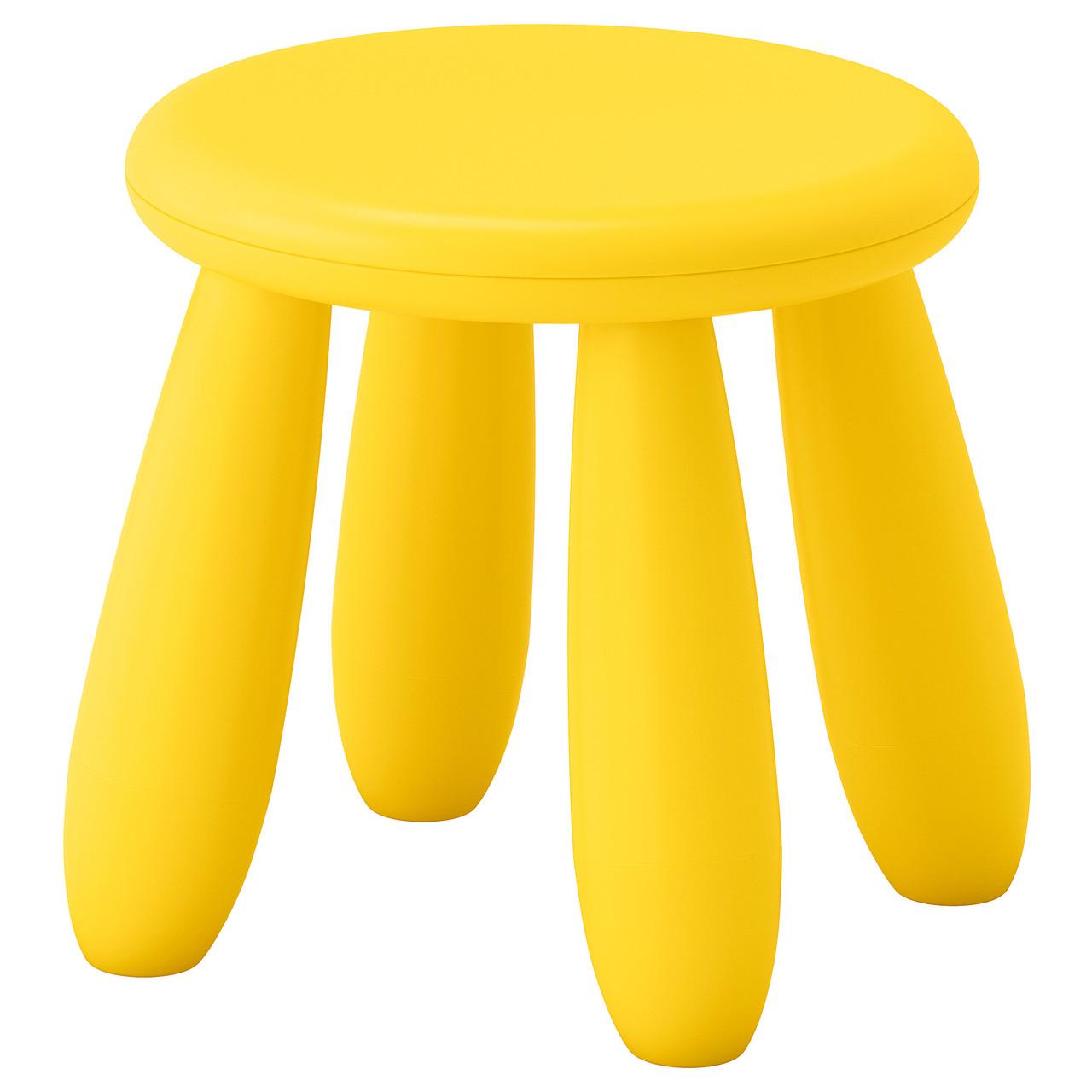 """IKEA """"МАММУТ"""" Табурет детский, желтый"""
