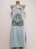 Сарафан-ночнушка женская. В ростовке 5 шт.(разные цвета). Размер  XL-5XL. 100%cotton., фото 1