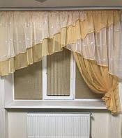 """Занавеска на кухонное окно с одной шторкой """"Милана"""", фото 1"""