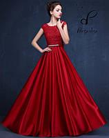 """Выпускное платье """"Фелиция"""". В красном цвете - кардинал. L"""