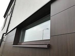 Окно с откосами и отливом.
