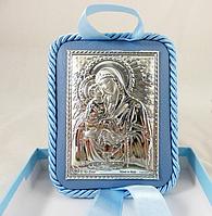 Икона Почаевская на подушечке 10*8 см