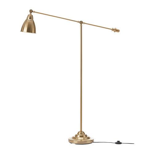Торшер / лампа для чтения IKEA BAROMETER желтая медь 303.580.50